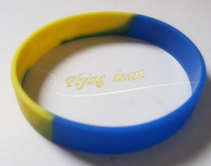 Custom Printing Simple Logo Silicone Wrist Band (YB-LY-WR-51) pictures & photos