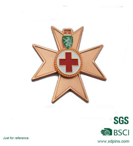 Zinc Alloy Soft Enamel Cross Logo Copper Plated Medal pictures & photos