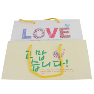 Popular Design Customizable Offset Printing Gift Paper Bag pictures & photos