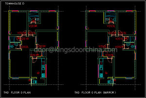Latest Design Decorative Combined MDF Door pictures & photos