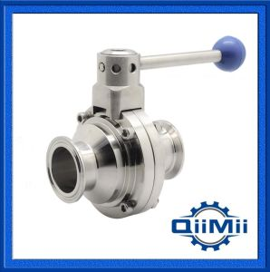 Sanitary Stainless Steel Tri Clamp Butterfly Ball Valve Ss304, Ss316L pictures & photos