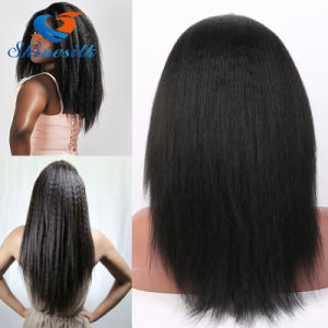 100% Human Hair Wig Yaki Straight Lace Front Wig pictures & photos