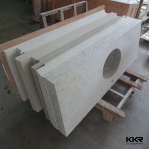 Mould Made Acrylic Solid Surface Stone Bathroom Vanity Tops pictures & photos