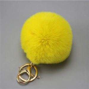 Various Sizes and Colors Real Rabbit Fur POM Balls Chains pictures & photos