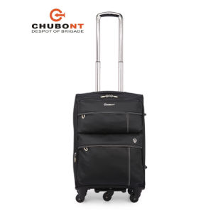 Chubont Hot Sell Waterproof Nylon Spinner 5 Wheels Travel Luggage pictures & photos