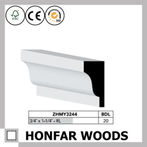 """7/16""""X11/16"""" Canada Hotel Building Material MDF Primed Crown Moulding pictures & photos"""