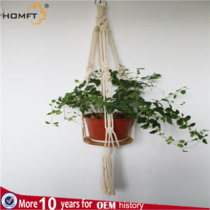 Nature Color Easy Move Macrame with Tassles Hanger Table pictures & photos