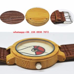 Fashionable Quartz Wooden Watch with Leather Strap Fs520 pictures & photos