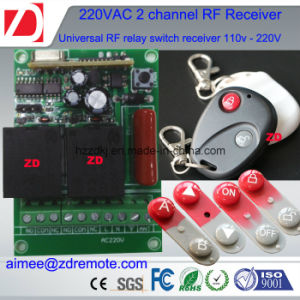 220V AC Wireless Transmitter and Receiver for Door/Gate 433/315 pictures & photos