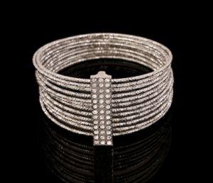 Multilayer 12 Layer Iron Wire Bracelet Fashion Jewelry Woith Diamond Pulsera PARA Dama pictures & photos