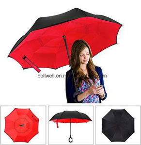 High Quality Reverse Inverted Straight Umbrella pictures & photos