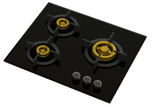 Supreme 3 Brass Burner Gas Stove (8mm Glass) pictures & photos