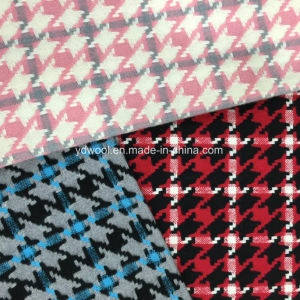 Three Colors Houndstooth Check Wool Fabric Ready pictures & photos