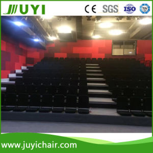 Floor Mounted Fabric Telescopic Bleachers Manual or Motorized Bleacher with Foam Chair Jy-768f pictures & photos