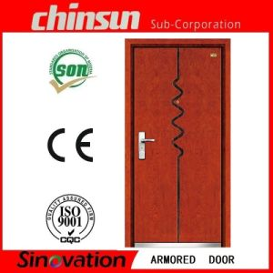 Cheap Price Steel Wood Armored Door Made in Zhejiang pictures & photos