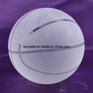 100mm Crystal Clear Glass Basketball for Souvenir Ball pictures & photos