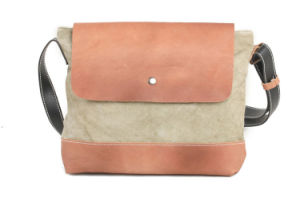 Leather Canvas Fashion Designer Cheap Wholesale School Bag (RS-6010) pictures & photos