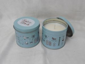 100g Blue Wax Customized Scented Tin Candle