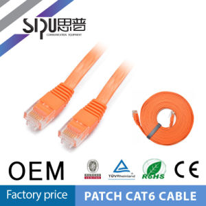 Sipu High Quality CAT6 Patch Cord Flat CAT6 Patch Cable pictures & photos