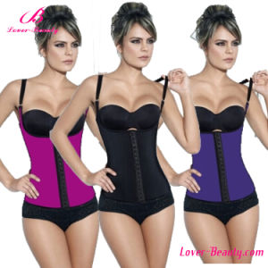 Stretch Strap 5 Steel Boned Slim Waist Latex Vest Corset