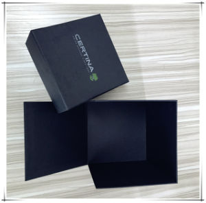 Black Color Foldable Square Carboard Box with Lip pictures & photos