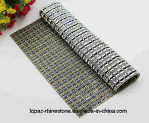 Hot Fix Crystal Sticker Heat Transfer Rhinestone Mesh (MESH-24*40cm) pictures & photos