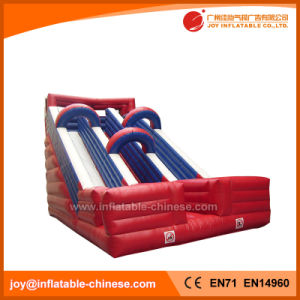 Amusement Toys Inflatable Dual Lanes Dry Slide for Sale (T4-131) pictures & photos