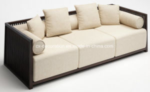 Luxury Ancient Chinese Style with Pad Wooden Sofa pictures & photos