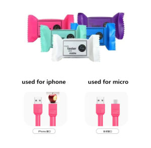20cm Flat Micro USB Sync Data Charger Cable for iPhone pictures & photos