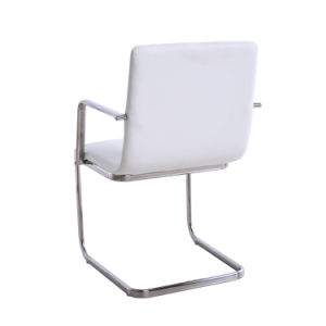 Modern White Leather Metal Restaurant Table and Chair Set (SP-CT845) pictures & photos