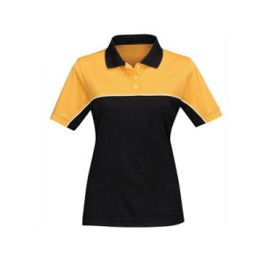 Factory High Quality Women High Collar Polo Tshirt of Cotton pictures & photos