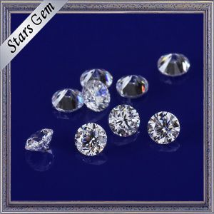 Wonderful Star Cut White Color 3mm Round CZ Stones Cubic Zirconia for Jewelry Making pictures & photos