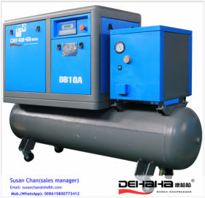 11kw 15HP (0.7~1.3MPa) Tank Combined Direct Driven Screw Air Compressor with Dryer pictures & photos