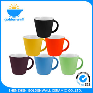 Eco-Friendly 350ml Colorful Porcelain Coffee Mug pictures & photos