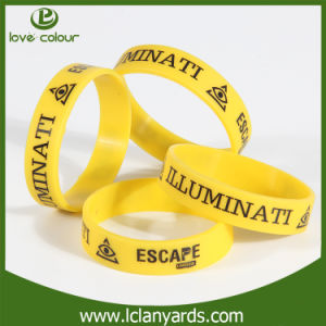 Wholesale Screen Printed Wrist Silicone Hand Band for Customized pictures & photos