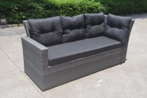 Restaurant Rattan Patio Garden Lounge Polywood Home Hotel Office Outdoor Sofa (J545-POL) pictures & photos