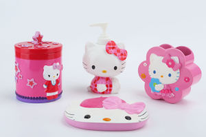 Hand Paint Hello Kitty Licensed Polyresin Bathroom Accessory pictures & photos