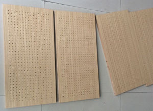 Veneer Finish MDF Peforated Acoustic Panel pictures & photos