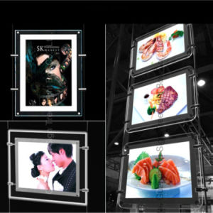 Double Sized A4 Hanging Slim Crystal Light Box pictures & photos