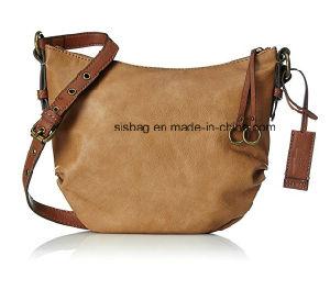 Vintage PU Leather Shoulder Bag Contrast Color Fashion Bags pictures & photos