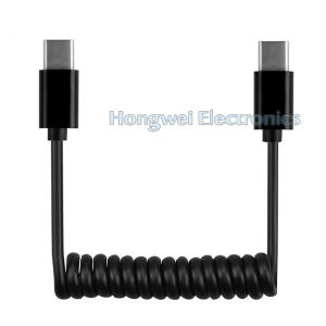 Customize Length Spring Type C USB Cable pictures & photos