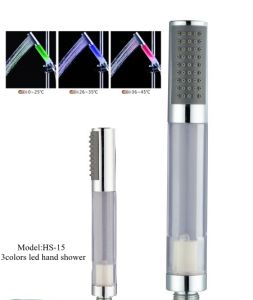 HS15 Good Quality 3colors LED Hand Shower Without Batteries pictures & photos