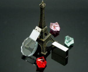 3D Crystal Glass USB Flash Memory Disk pictures & photos