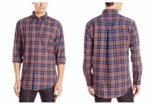Men′s Dress Long Sleeve Classic Fit Plaid Shirts pictures & photos