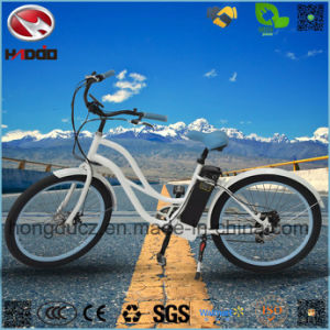 Fat Tire Lithium Battery Electric Woman Beach Cruiser Bike for Sale pictures & photos