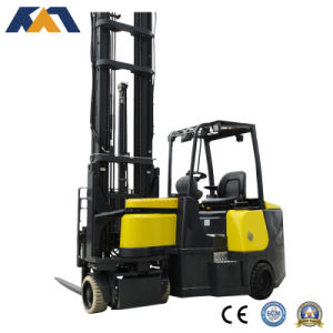 4 Wheel Battery Operated Forklift Truck Electric Forklift for Sale pictures & photos