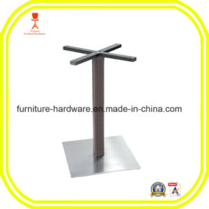 Standard Furniture Hardware Parts Dining Table Leg with Square Base pictures & photos