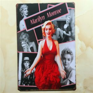 Vintage Sign Marilyn Monroe Tinplate pictures & photos