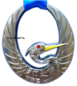 Award Medal for Cross Country with Swan 3D Logo