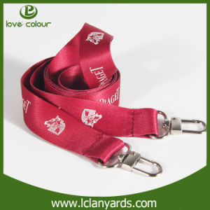 New Design Double Hook Fabric Printed Lanyards for OEM Service